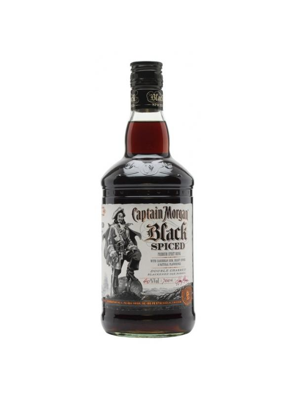 CAPTAIN MORGAN BLACK SPICED 1 L. - Ron del Caribe