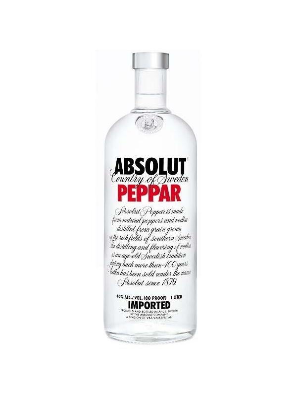 VODKA ABSOLUT PEPPAR 1 L. - Vodka