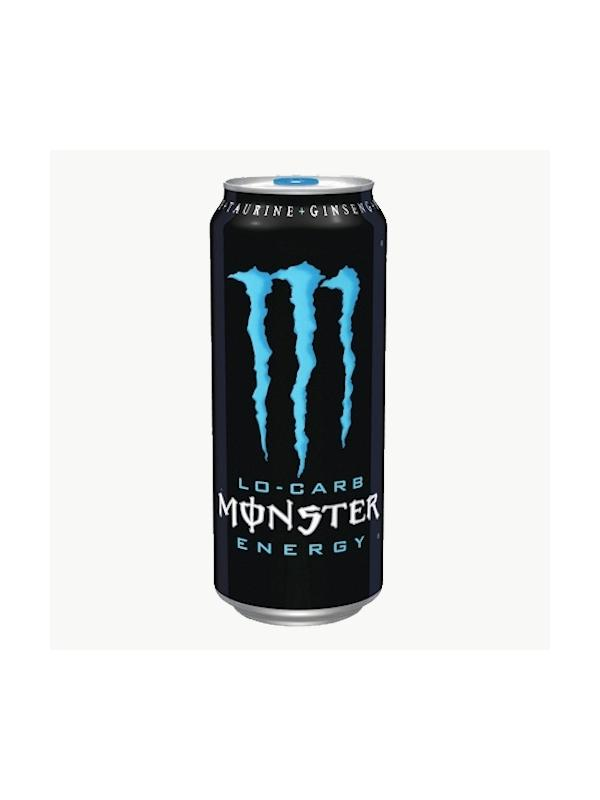 MONSTER LO-CARB AZUL 500 ML
