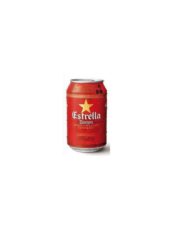 CERVEZA ESTRELLA DAMM LATA 0.33 L.