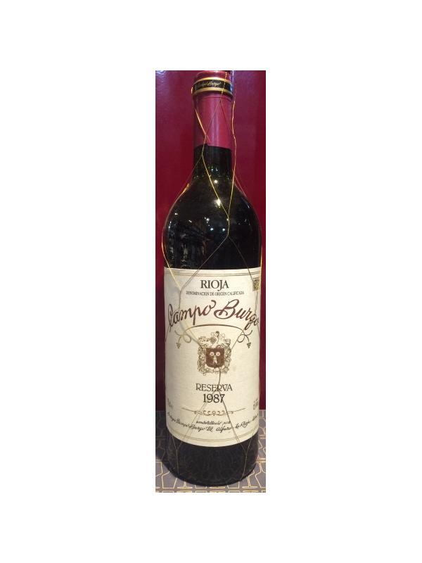 CAMPO BURGO RESERVA 1987 - D.O. Rioja Tinto