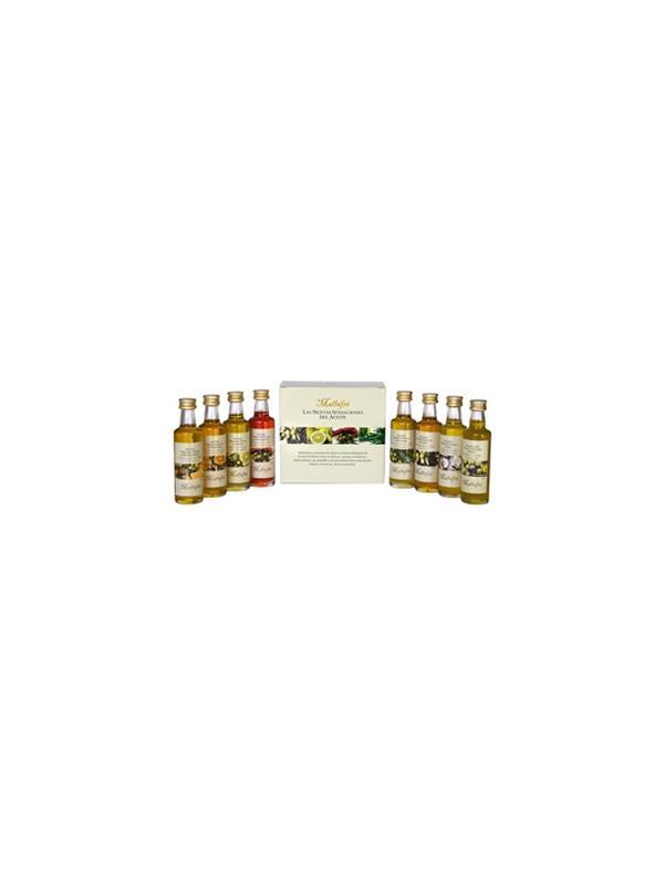ACEITE MALLAFRE ESTUCHE 8 MINI VARIEDADES - Aceite de Oliva