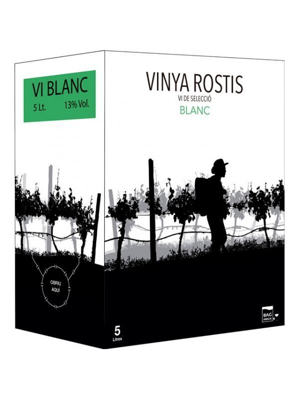VINYA ROSTIS BLANC BIB 5 L. - Cataluña sin D.O.