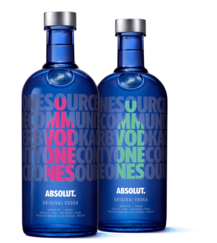 VODKA ABSOLUT DROP OF LOVE 1 L. - Vodka de Suecia