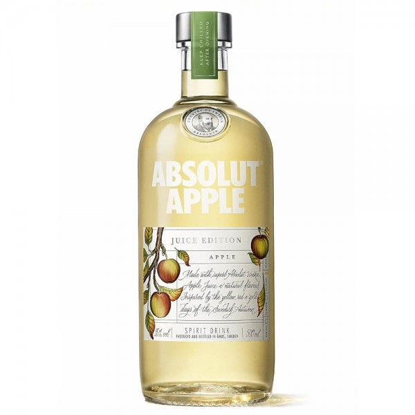 PETACA VODKA ABSOLUT APPLE 0.50 L 35º