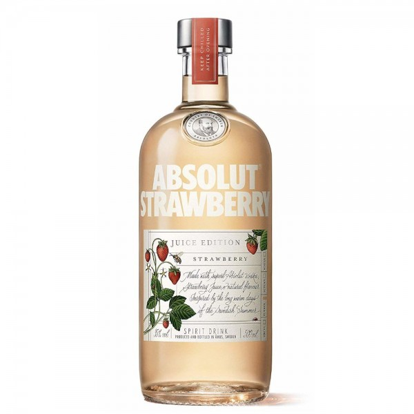 PETACA VODKA ABSOLUT STRAWBERRY 0.50 L 35º
