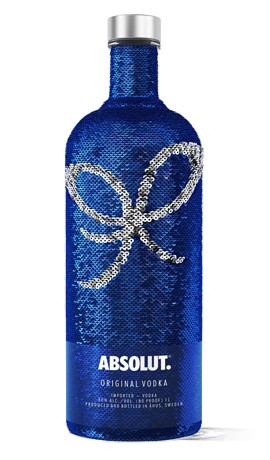 VODKA ABSOLUT SEQUIN 1 L.