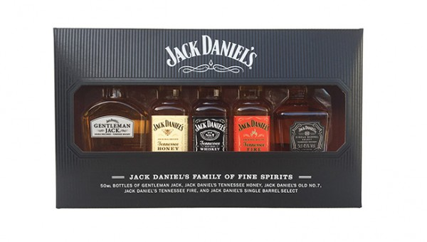 MINIATURAS JACK DANIELS FAMILY PACK 5 X 5CL