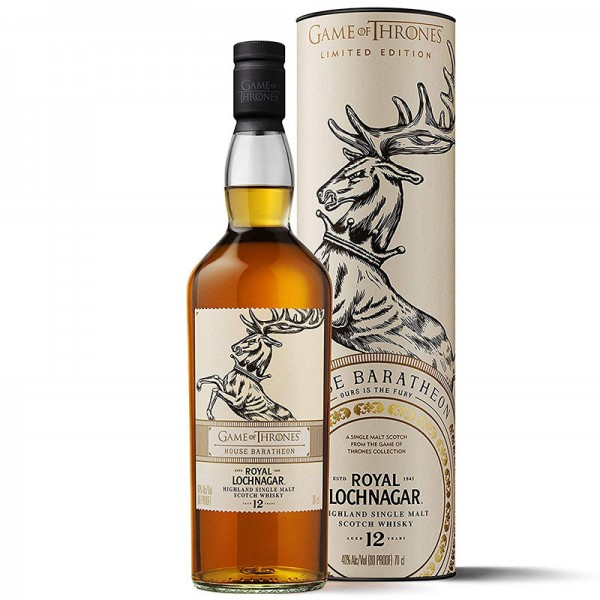 GAME OF THRONES ROYAL LOCHNAGAR 12 AÑOS HOUSE BARATHEON 0.70 L.