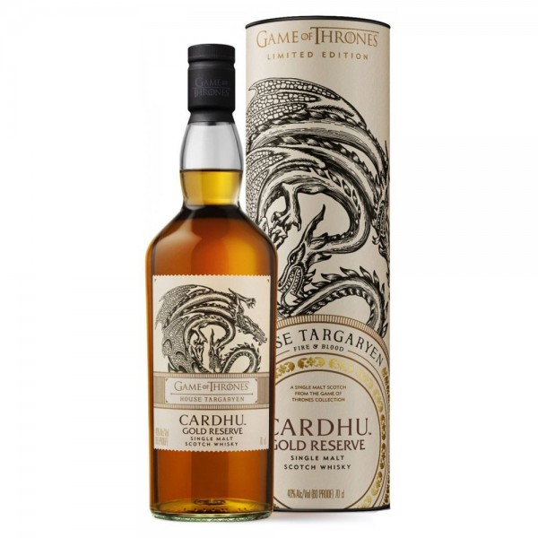 GAME OF THRONES CARDHU GOLD RESERVE HOUSE TARGARYEN 0.70 L.