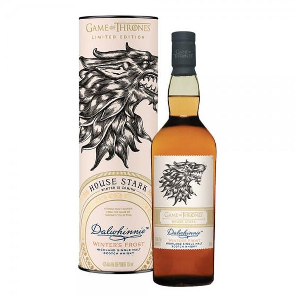 GAME OF THRONES DALWIHINNIE WINTER FROST HOUSE STARK 0.70L