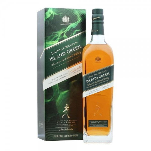 JOHNNIE WALKER ISLAND GREEN 1 L.