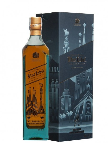JOHNNIE WALKER BLUE EDICION LIMITADA BARCELONA 0.70 L.