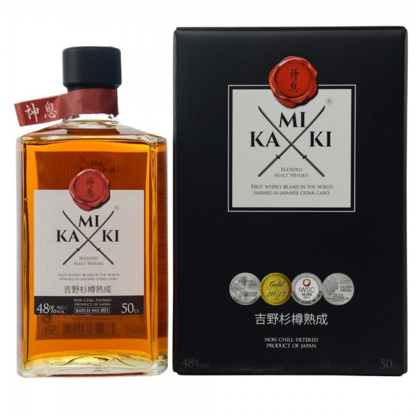 KAMIKI BLENDED MALT WHISKY 0.50 L.