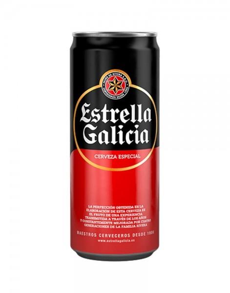 CERVEZA ESTRELLA GALICIA 0.33L. LATA - Cerveza española