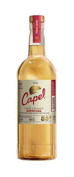 PISCO CAPEL DOBLE DESTILADO ESPECIAL 35º 0.70 L.